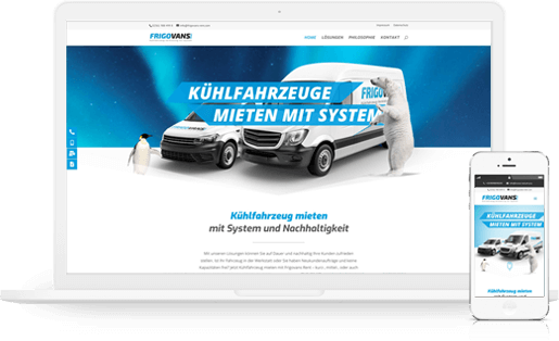 welovewebsites - Webdesign aus Essen - Referenzen und Projekte im Überblick mit Beispiel www.frigovans-rent.com - Vermietung von Kuehlfahrzeugen